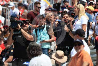 World © Octane Photographic Ltd. Formula 1 – Canadian GP. Qualifying. Fans and the media  in the grandstands. Circuit de Gilles Villeneuve, Montreal, Canada. Saturday 8th June 2019.