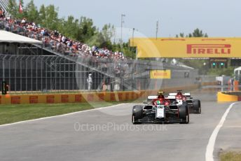 World © Octane Photographic Ltd. Formula 1 – Canadian GP. Qualifying. Alfa Romeo Racing C38 – Antonio Giovinazzi and Kimi Raikkonen. Circuit de Gilles Villeneuve, Montreal, Canada. Saturday 8th June 2019.