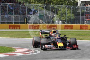 World © Octane Photographic Ltd. Formula 1 – Canadian GP. Qualifying. Aston Martin Red Bull Racing RB15 – Max Verstappen. Circuit de Gilles Villeneuve, Montreal, Canada. Saturday 8th June 2019.