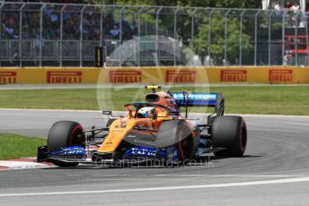 World © Octane Photographic Ltd. Formula 1 – Canadian GP. Qualifying. McLaren MCL34 – Lando Norris. Circuit de Gilles Villeneuve, Montreal, Canada. Saturday 8th June 2019.