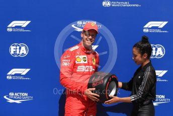 World © Octane Photographic Ltd. Formula 1 – Canadian GP. Qualifying. Scuderia Ferrari SF90 – Sebastian Vettel and Liza Koshy. Circuit de Gilles Villeneuve, Montreal, Canada. Saturday 8th June 2019.