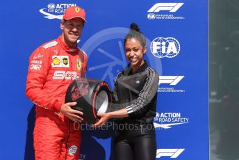World © Octane Photographic Ltd. Formula 1 – Canadian GP. Qualifying. Scuderia Ferrari SF90 – Sebastian Vettel and Liza Koshy. Circuit de Gilles Villeneuve, Montreal, Canada. Saturday 8th June 2019.
