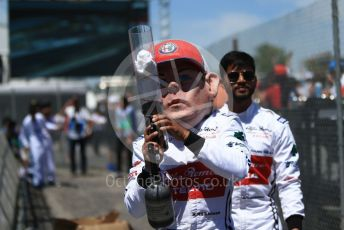 World © Octane Photographic Ltd. Formula 1 – Canadian GP. Qualifying. Alfa Romeo Racing C38 – Kimi Raikkonen mannequin. Circuit de Gilles Villeneuve, Montreal, Canada. Saturday 8th June 2019.