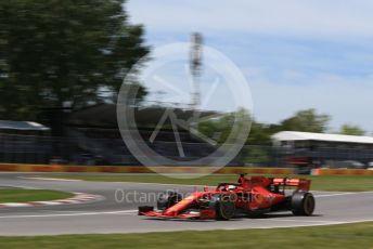 World © Octane Photographic Ltd. Formula 1 – Canadian GP. Qualifying. Scuderia Ferrari SF90 – Sebastian Vettel. Circuit de Gilles Villeneuve, Montreal, Canada. Saturday 8th June 2019.