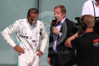 World © Octane Photographic Ltd. Formula 1 – Canadian GP. Parc Ferme. Mercedes AMG Petronas Motorsport AMG F1 W10 EQ Power+ - Lewis Hamilton and Martin Brundle. Circuit de Gilles Villeneuve, Montreal, Canada. Sunday 9th June 2019.