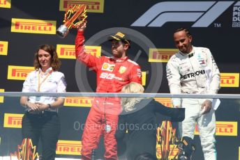 World © Octane Photographic Ltd. Formula 1 – Canadian GP. Podium. Mercedes AMG Petronas Motorsport AMG F1 W10 EQ Power+ - Lewis Hamilton and Scuderia Ferrari SF90 – Sebastian Vettel. Circuit de Gilles Villeneuve, Montreal, Canada. Sunday 9th June 2019.