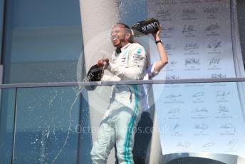 World © Octane Photographic Ltd. Formula 1 – Canadian GP. Podium. Mercedes AMG Petronas Motorsport AMG F1 W10 EQ Power+ - Lewis Hamilton. Circuit de Gilles Villeneuve, Montreal, Canada. Sunday 9th June 2019.
