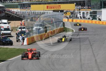World © Octane Photographic Ltd. Formula 1 – Canadian GP. Race. Scuderia Ferrari SF90 – Charles Leclerc and Renault Sport F1 Team RS19 – Daniel Ricciardo. Circuit de Gilles Villeneuve, Montreal, Canada. Sunday 9th June 2019.