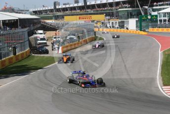 World © Octane Photographic Ltd. Formula 1 – Canadian GP. Race. Scuderia Toro Rosso STR14 – Daniil Kvyat, McLaren MCL34 – Carlos Sainz and SportPesa Racing Point RP19 - Sergio Perez. Circuit de Gilles Villeneuve, Montreal, Canada. Sunday 9th June 2019.