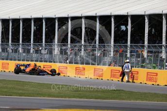 World © Octane Photographic Ltd. Formula 1 – Canadian GP. Race. McLaren MCL34 – Lando Norris. Circuit de Gilles Villeneuve, Montreal, Canada. Sunday 9th June 2019.
