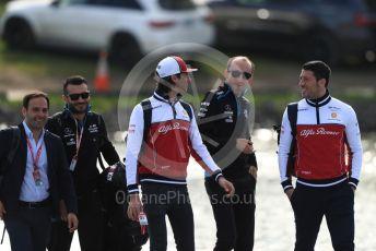 World © Octane Photographic Ltd. Formula 1 – Canadian GP. Paddock. Alfa Romeo Racing C38 – Antonio Giovinazzi and ROKiT Williams Racing FW42 – Robert Kubica. Circuit de Gilles Villeneuve, Montreal, Canada. Friday 7th June 2019.