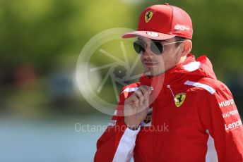 World © Octane Photographic Ltd. Formula 1 – Canadian GP. Paddock. Scuderia Ferrari SF90 – Charles Leclerc. Circuit de Gilles Villeneuve, Montreal, Canada. Thursday 6th June 2019.