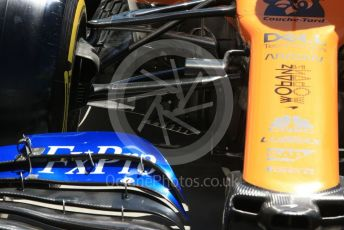 World © Octane Photographic Ltd. Formula 1 – Canadian GP. Scrutineering. McLaren MCL34. Circuit de Gilles Villeneuve, Montreal, Canada. Thursday 6th June 2019.