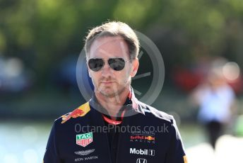 World © Octane Photographic Ltd. Formula 1 - Canadian GP. Paddock. Christian Horner - Team Principal of Red Bull Racing. Circuit de Gilles Villeneuve, Montreal, Canada. Saturday 8th June 2019.