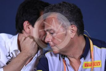 World © Octane Photographic Ltd. Formula 1 - Canadian GP – Friday FIA Team Press Conference. Toto Wolff - Executive Director & Head of Mercedes - Benz Motorsport and Mario Isola – Pirelli Head of Car Racing. Circuit de Gilles Villeneuve, Montreal, Canada. Friday 7th June 2019.