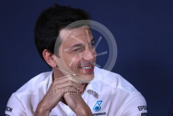 World © Octane Photographic Ltd. Formula 1 - Canadian GP – Friday FIA Team Press Conference. Toto Wolff - Executive Director & Head of Mercedes - Benz Motorsport. Circuit de Gilles Villeneuve, Montreal, Canada. Friday 7th June 2019.