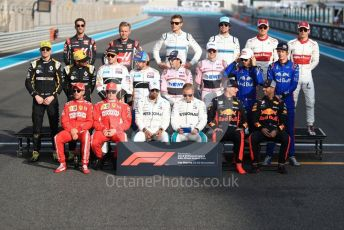 World © Octane Photographic Ltd. Formula 1 – Abu Dhabi GP - Class of 2018. Scuderia Ferrari SF71-H – Kimi Raikkonen and Sebastian Vettel, Mercedes AMG Petronas Motorsport AMG F1 W09 EQ Power+ - Lewis Hamilton and Valtteri Bottas, Aston Martin Red Bull Racing TAG Heuer RB14 – Daniel Ricciardo and Max Verstappen,. Williams Martini Racing FW41 – Sergey Sirotkin, Lance Stroll, McLaren MCL33 – Stoffel Vandoorne, Fernando Alonso, Renault Sport F1 Team RS18 – Carlos Sainz and Nico Hulkenberg, Racing Point Force India VJM11 - Sergio Perez and Esteban Ocon. Haas F1 Team VF-18 – Romain Grosjean, Kevin Magnussen, Alfa Romeo Sauber F1 Team C37 – Marcus Ericsson, Charles Leclerc, Scuderia Toro Rosso STR13 – Pierre Gasly and Brendon Hartley. Yas Marina Circuit, Abu Dhabi. Sunday 25th November 2018.