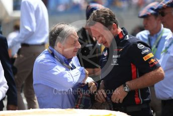World © Octane Photographic Ltd. Formula 1 – French GP. Drivers Parade. Sir Jackie Stewart 80th Birthday celebrations, Jean Todt – President of FIA. . Paul Ricard Circuit, La Castellet, France. Sunday 23rd June 2019.