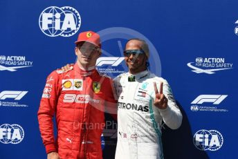 World © Octane Photographic Ltd. Formula 1 – French GP. Qualifying.Mercedes AMG Petronas Motorsport AMG F1 W10 EQ Power+ - Lewis Hamilton and Scuderia Ferrari SF90 – Charles Leclerc. Paul Ricard Circuit, La Castellet, France. Saturday 22nd June 2019.
