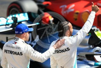 World © Octane Photographic Ltd. Formula 1 – French GP. Qualifying. Mercedes AMG Petronas Motorsport AMG F1 W10 EQ Power+ - Lewis Hamilton and Valtteri Bottas. Paul Ricard Circuit, La Castellet, France. Saturday 22nd June 2019.