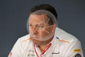 World © Octane Photographic Ltd. Formula 1 - French GP – Friday FIA Team Press Conference. Zak Brown - Executive Director of McLaren Technology Group. Paul Ricard Circuit, La Castellet, France. Friday 21st June 2019.