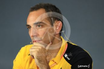 World © Octane Photographic Ltd. Formula 1 - French GP – Friday FIA Team Press Conference. Cyril Abiteboul - Managing Director of Renault Sport Racing Formula 1 Team. Paul Ricard Circuit, La Castellet, France. Friday 21st June 2019.