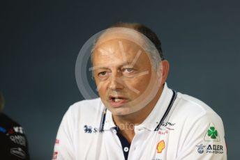 World © Octane Photographic Ltd. Formula 1 - French GP – Friday FIA Team Press Conference. Frederic Vasseur – Team Principal and CEO of Sauber Motorsport AG. Paul Ricard Circuit, La Castellet, France. Friday 21st June 2019.