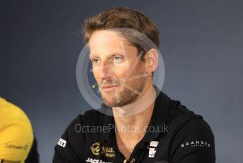 World © Octane Photographic Ltd. Formula 1 – French GP. FIA Drivers Press Conference. Rich Energy Haas F1 Team – Romain Grosjean. Paul Ricard Circuit, La Castellet, France. Thursday 20th June 2019.
