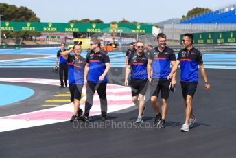 World © Octane Photographic Ltd. Formula 1 – French GP. Track Walk. Scuderia Toro Rosso STR14 – Alexander Albon. Paul Ricard Circuit, La Castellet, France. Thursday 20th June 2019.