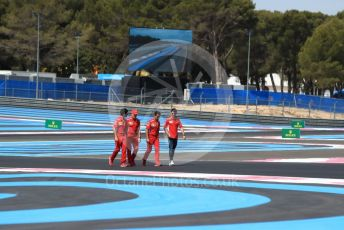 World © Octane Photographic Ltd. Formula 1 – French GP.  Track Walk. Scuderia Ferrari SF90 – Charles Leclerc. Paul Ricard Circuit, La Castellet, France. Thursday 20th June 2019.
