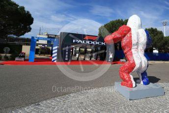 World © Octane Photographic Ltd. Formula 1 – French GP. Pit Lane. Richard Orlinski - Gorilla. Paul Ricard Circuit, La Castellet, France. Thursday 20th June 2019.
