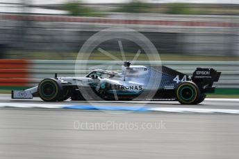 World © Octane Photographic Ltd. Formula 1 – German GP - Qualifying. Mercedes AMG Petronas Motorsport AMG F1 W10 EQ Power+ - Lewis Hamilton. Hockenheimring, Hockenheim, Germany. Saturday 27th July 2019.