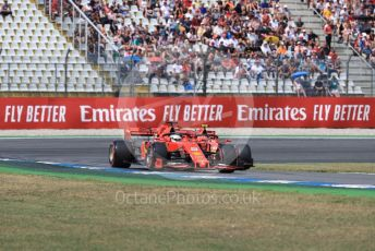 World © Octane Photographic Ltd. Formula 1 – German GP - Qualifying. Scuderia Ferrari SF90 – Sebastian Vettel and Charles Leclerc. Hockenheimring, Hockenheim, Germany. Saturday 27th July 2019.