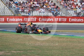 World © Octane Photographic Ltd. Formula 1 – German GP - Qualifying. Aston Martin Red Bull Racing RB15 – Max Verstappen. Hockenheimring, Hockenheim, Germany. Saturday 27th July 2019.