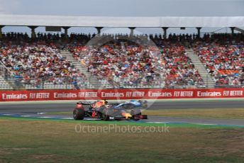 World © Octane Photographic Ltd. Formula 1 – German GP - Qualifying. Aston Martin Red Bull Racing RB15 – Max Verstappen and ROKiT Williams Racing FW42 – Robert Kubica. Hockenheimring, Hockenheim, Germany. Saturday 27th July 2019.