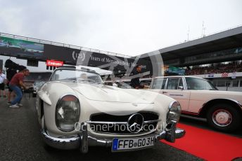 World © Octane Photographic Ltd. Formula 1 – German GP - Drivers Parade, Classic Mercedes waiting to Lewis Hamilton and Valtteri Bottas. Hockenheimring, Hockenheim, Germany. Sunday 28th July 2019.