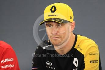 World © Octane Photographic Ltd. Formula 1 – German GP. FIA Drivers Press Conference. Renault Sport F1 Team – Nico Hulkenberg. Hockenheimring, Hockenheim, Germany. Thursday 25th July 2019.