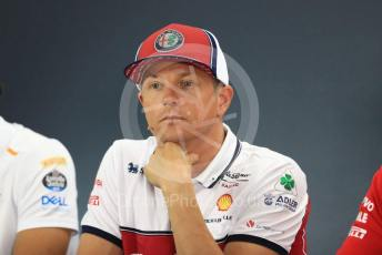 World © Octane Photographic Ltd. Formula 1 – German GP. FIA Drivers Press Conference. Alfa Romeo Racing – Kimi Raikkonen. Hockenheimring, Hockenheim, Germany. Thursday 25th July 2019.