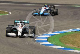 World © Octane Photographic Ltd. Formula 1 – German GP - Practice 2. Mercedes AMG Petronas Motorsport AMG F1 W10 EQ Power+ - Lewis Hamilton and ROKiT Williams Racing FW42 – Robert Kubica. Hockenheimring, Hockenheim, Germany. Friday 26th July 2019.