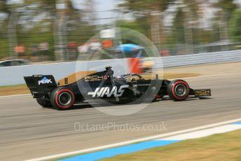 World © Octane Photographic Ltd. Formula 1 – German GP - Practice 2. Rich Energy Haas F1 Team VF19 – Romain Grosjean. Hockenheimring, Hockenheim, Germany. Friday 26th July 2019.