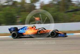 World © Octane Photographic Ltd. Formula 1 – German GP - Practice 2. McLaren MCL34 – Lando Norris. Hockenheimring, Hockenheim, Germany. Friday 26th July 2019.
