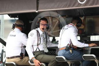 World © Octane Photographic Ltd. Formula 1 – German GP - Practice 3. Mercedes AMG Petronas Motorsport pit wall in retro uniforms. Hockenheimring, Hockenheim, Germany. Saturday 27th July 2019.