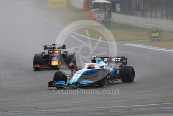 World © Octane Photographic Ltd. Formula 1 – German GP - Race. ROKiT Williams Racing FW42 – Robert Kubica and Aston Martin Red Bull Racing RB15 – Max Verstappen. Hockenheimring, Hockenheim, Germany. Sunday 28th July 2019.