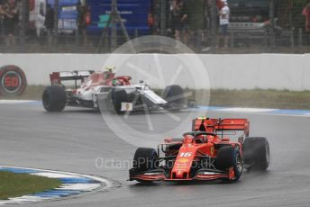 World © Octane Photographic Ltd. Formula 1 – German GP - Race. Scuderia Ferrari SF90 – Charles Leclerc and Alfa Romeo Racing C38 – Antonio Giovinazzi. Hockenheimring, Hockenheim, Germany. Sunday 28th July 2019.