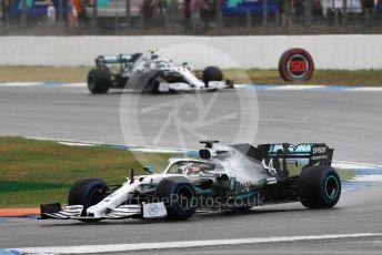 World © Octane Photographic Ltd. Formula 1 – German GP - Race. Mercedes AMG Petronas Motorsport AMG F1 W10 EQ Power+ - Lewis Hamilton and Valtteri Bottas. Hockenheimring, Hockenheim, Germany. Sunday 28th July 2019.