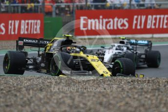 World © Octane Photographic Ltd. Formula 1 – German GP - Race. Renault Sport F1 Team RS19 – Nico Hulkenberg and Mercedes AMG Petronas Motorsport AMG F1 W10 EQ Power+ - Valtteri Bottas. Hockenheimring, Hockenheim, Germany. Sunday 28th July 2019.