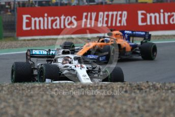 World © Octane Photographic Ltd. Formula 1 – German GP - Race. Mercedes AMG Petronas Motorsport AMG F1 W10 EQ Power+ - Lewis Hamilton and McLaren MCL34 – Carlos Sainz. . Hockenheimring, Hockenheim, Germany. Sunday 28th July 2019.
