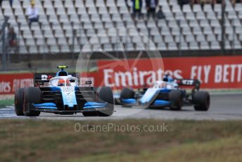 World © Octane Photographic Ltd. Formula 1 – German GP - Race. ROKiT Williams Racing FW42 – Robert Kubica and George Russell. Hockenheimring, Hockenheim, Germany. Sunday 28th July 2019.