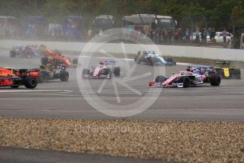 World © Octane Photographic Ltd. Formula 1 – German GP - Race. SportPesa Racing Point RP19 - Sergio Perez runs wide at turn 2. Hockenheimring, Hockenheim, Germany. Sunday 28th July 2019.