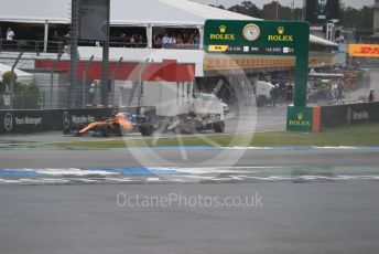 World © Octane Photographic Ltd. Formula 1 – German GP - Race. McLaren MCL34 – Carlos Sainz and Rich Energy Haas F1 Team VF19 – Romain Grosjean. . Hockenheimring, Hockenheim, Germany. Sunday 28th July 2019.